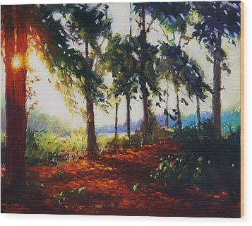 Summer Light Wood Print