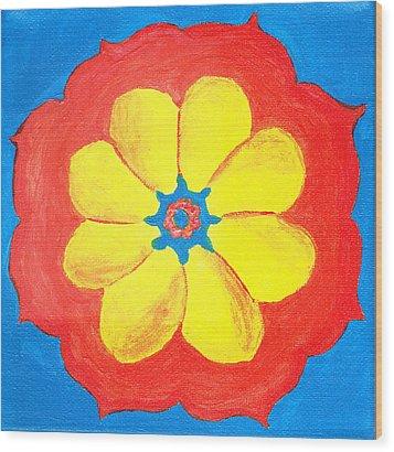 Summer Mandala Wood Print