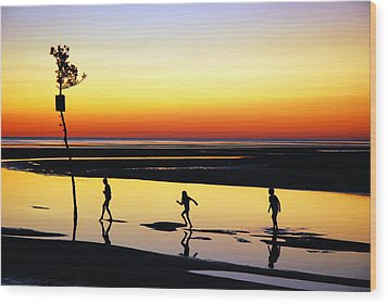 Wood Print featuring the photograph Summer Memories by James Kirkikis