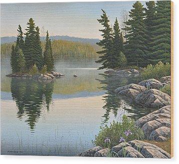 Summer Mist Wood Print