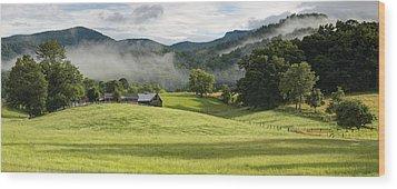 Summer Morning At Bakersville North Carolina Wood Print by Keith Clontz