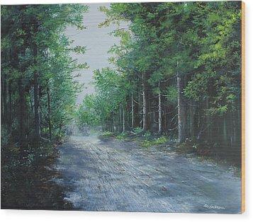 Summer Morning Wood Print by Ken Ahlering