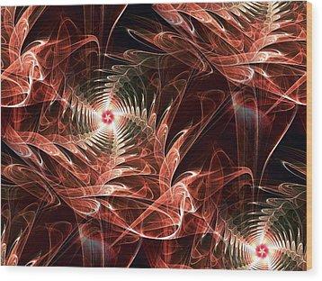 Summer Night Wood Print by Anastasiya Malakhova
