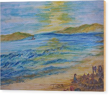 Wood Print featuring the painting Summer/ North Wales  by Teresa White