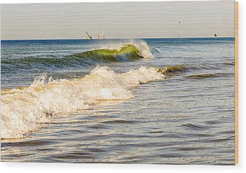 Summer Ocean Scene 1 Wood Print by Maureen E Ritter