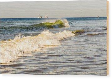 Summer Ocean Scene 1 Wood Print