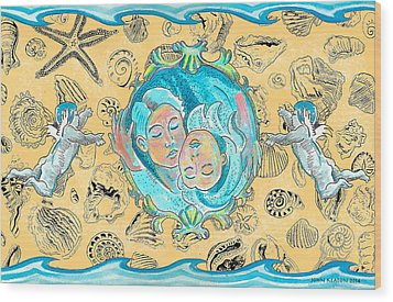 Wood Print featuring the painting Summer Of Love by John Keaton