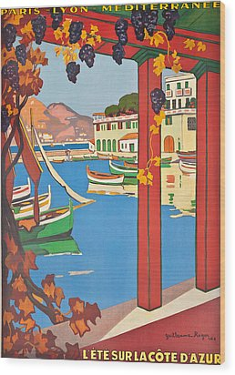 Summer On The Cote D Azur Wood Print by Guillaume Georges Roger