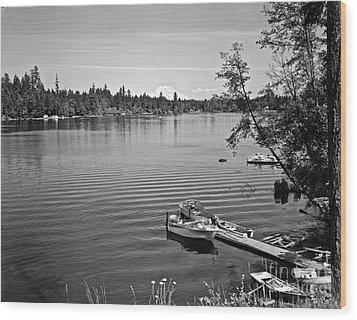 Wood Print featuring the photograph Summer On The Lake by Merle Junk