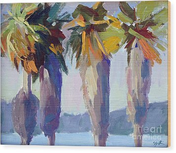 Summer Palms Wood Print