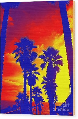 Summer Palms Wood Print