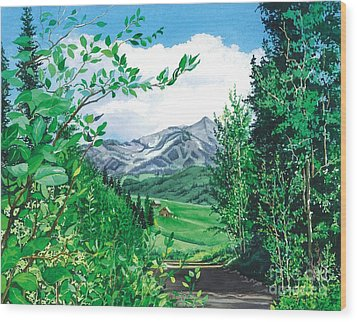Summer Paradise Wood Print by Barbara Jewell