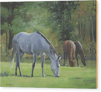 Wood Print featuring the painting Summer Pasture by Alecia Underhill