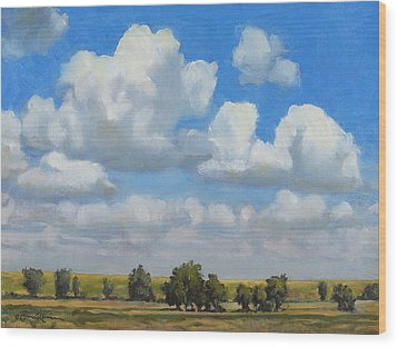 Summer Pasture Wood Print by Bruce Morrison