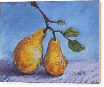 Summer Pears Wood Print by Kelley Smith