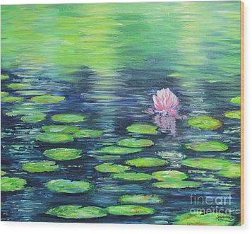Summer Pond Wood Print by Sian Lorraine