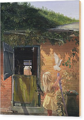 Summer Reflection Wood Print by Timothy  Easton