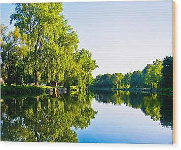 Wood Print featuring the photograph Summer Reflections by Sara Frank