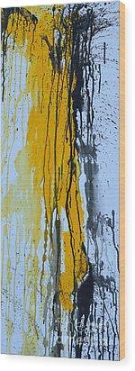 Summer Rein- Abstract Wood Print by Ismeta Gruenwald