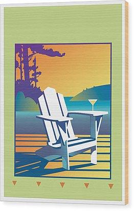 Summer Relax Wood Print