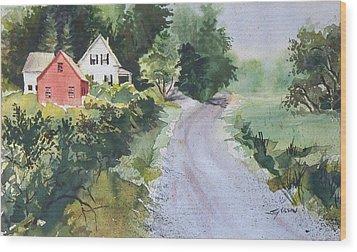 Summer Road Wood Print by Joy Nichols