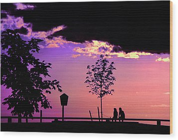 Wood Print featuring the photograph Summer Romance by Mike Flynn