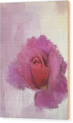 Summer Rose Wood Print by Mary M Collins