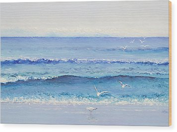 Summer Seascape Wood Print by Jan Matson