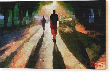 Summer Shadows Tnm Wood Print by Vincent DiNovici