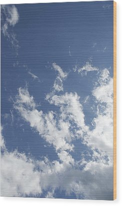 Wood Print featuring the photograph Summer Sky by Dorothy Maier