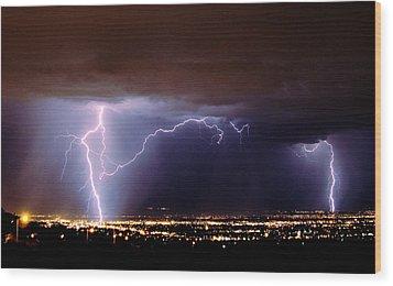 Summer Storm- Albuquerque 2009 Wood Print