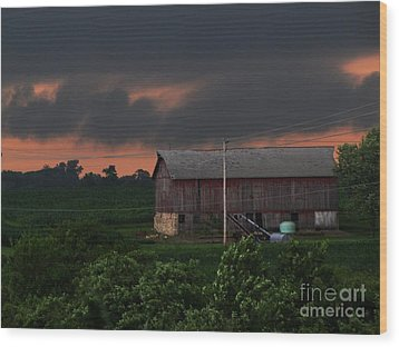 Summer Storm Brewing Wood Print by Laurie Wilcox
