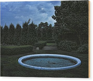 Summer Storm Coming Bahai Temple Wood Print by John Hansen