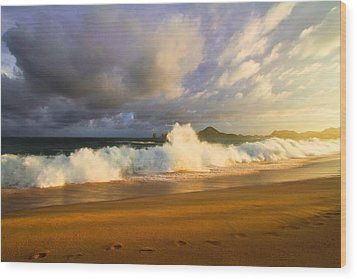 Wood Print featuring the photograph Summer Storm by Eti Reid
