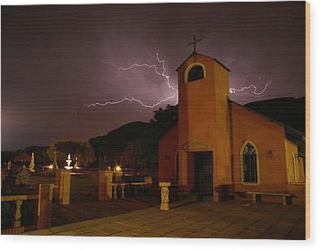 Wood Print featuring the photograph Summer Storm by Riana Van Staden
