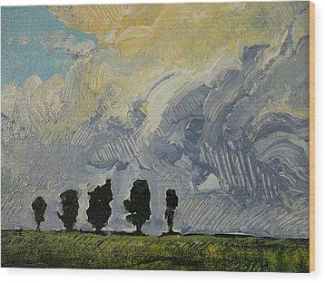 Summer Storm Wood Print by Rodger Ellingson