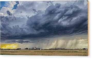 Summer Storm Twin Falls Idaho Wood Print