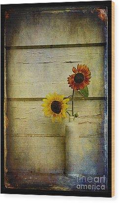 Summer Sunflowers Wood Print by Sari Sauls