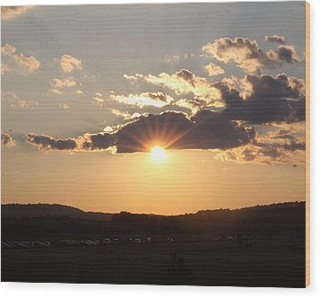 Summer Sunset Wood Print by Mustafa Abdullah