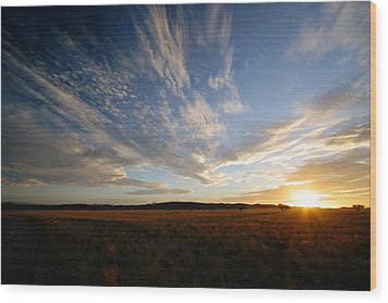 Summer Sunset Over Africa Wood Print by Riana Van Staden