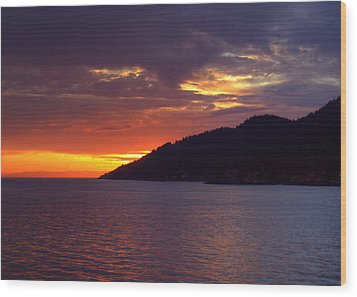 Summer Sunset Wood Print by Randy Hall
