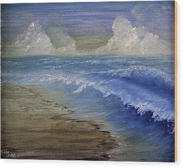 Summer Surf Wood Print by Judy Hall-Folde