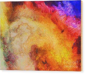Summer Swirl Wood Print by Pixel Chimp