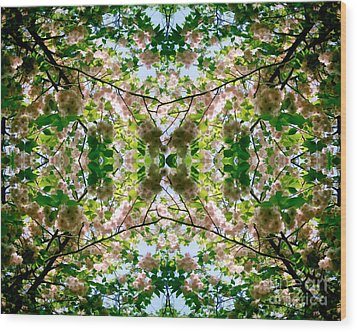 Summer Symmetry Wood Print