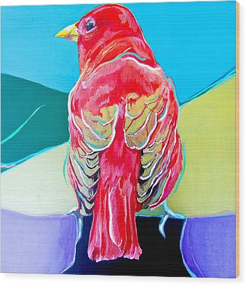 Summer Tanager Wood Print by Jamie Downs