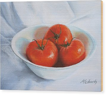 Summer Tomatoes Wood Print by Marna Edwards Flavell