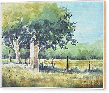 Summer Trees Wood Print by Rick Mock