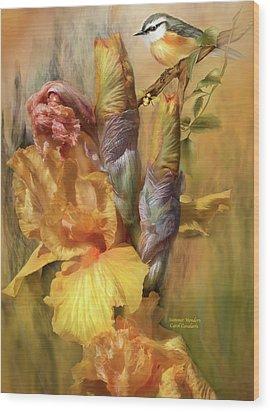 Summer Wonders Wood Print by Carol Cavalaris