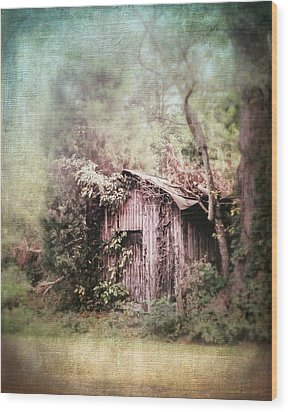 Summerfield Shed Wood Print