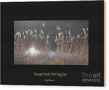 Wood Print featuring the photograph Summerlands Setting Sun by Linda Prewer